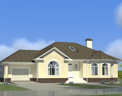Проект одноэтажного дома, 182,74 м2