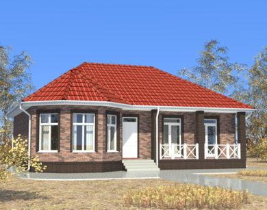 Проект одноэтажного дома, 94,92 м2