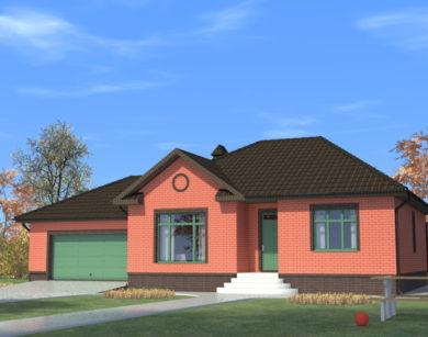 Проект одноэтажного дома, 148,53 м2