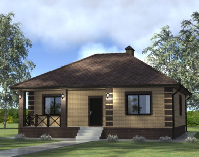 Проект одноэтажного дома, 84,25 м2