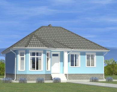 Проект одноэтажного дома, 97,32 м2