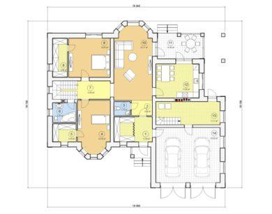 Проект дома с мансардой, 259,78 м2