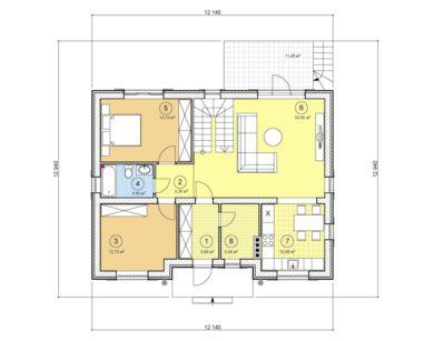 Проект дома с мансардой, 151,50 м2