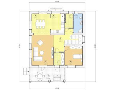 Проект двухэтажного дома, 227,37 м2