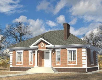Проект одноэтажного дома, 113,09 м2