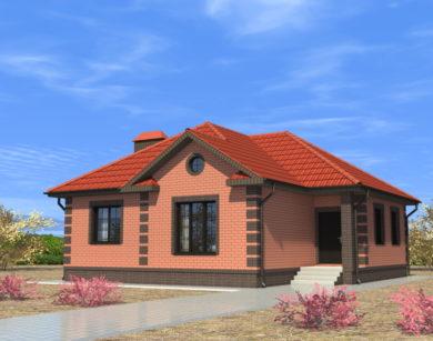 Проект одноэтажного дома, 88,39 м2