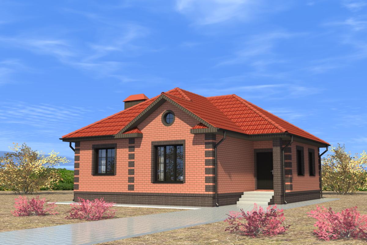 кирпичные одноэтажные дома фото и проекты домов надстройка верхней