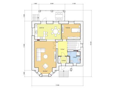 Проект двухэтажного дома, 177,66 м2