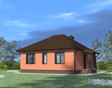 Проект одноэтажного дома, 78,63 м2