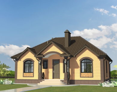 Проект одноэтажного дома, 114,34 м2