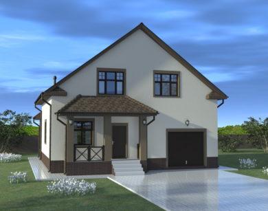 Проект дома с мансардой, 185,38 м2