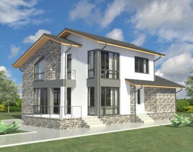 Проект двухэтажного дома, 179,71 м2