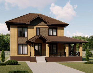 Проект двухэтажного дома, 180,31 м2