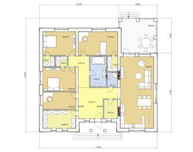 Проект одноэтажного дома, 203,03 м2