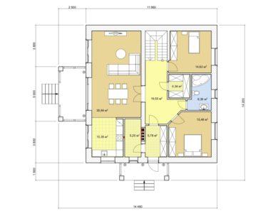 Проект дома с мансардой, 168,20 м2