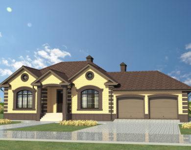 Проект одноэтажного дома, 218,90 м2