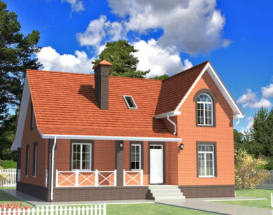 Проект дома с мансардой, 179,09 м2