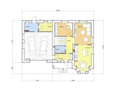 Проект двухэтажного дома, 198,46 м2