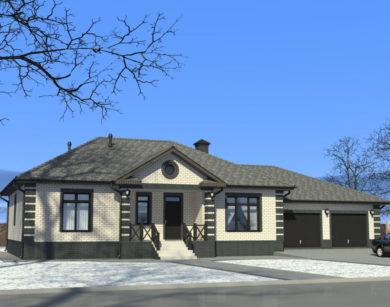 Проект одноэтажного дома, 201,14 м2