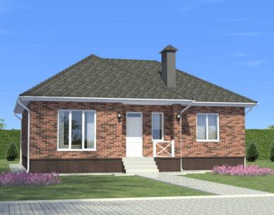 Проект одноэтажного дома, 99,10 м2