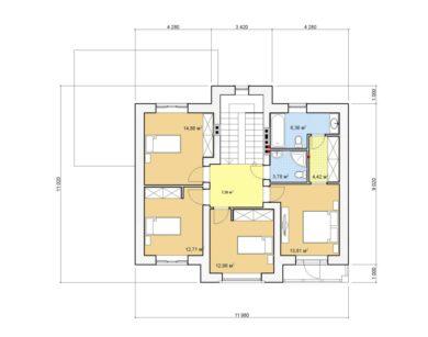 Проект двухэтажного дома, 161,95 м2
