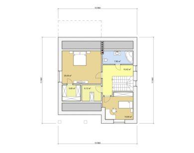 Проект дома с мансардой, 162,32 м2