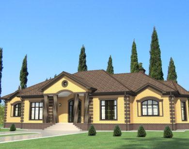 Проект одноэтажного дома, 256,74 м2