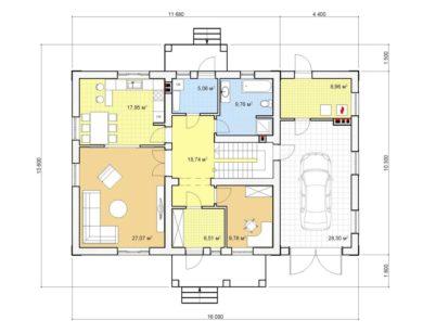 Проект дома с мансардой, 221,03 м2
