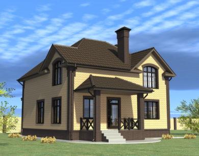 Проект дома с мансардой, 157,64 м2