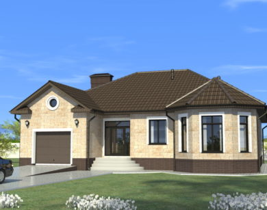 Проект одноэтажного дома, 168,41 м2