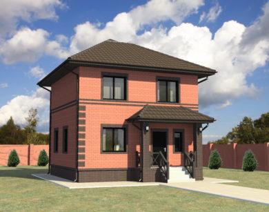 Проект двухэтажного дома, 89,01 м2