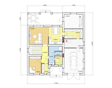 Проект двухэтажного дома, 212,71м2