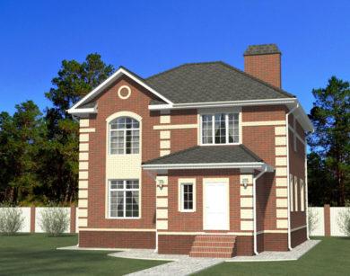 Проект двухэтажного дома, 177,92м2