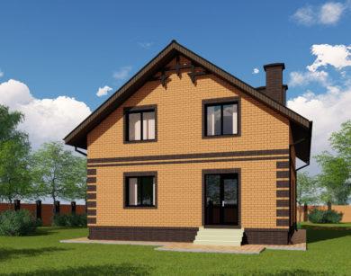 Проект дома с мансардой, 147,44м2