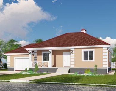 Проект одноэтажного дома, 116,74 м2