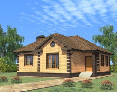 Проект одноэтажного дома, 90,32м2