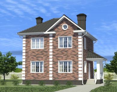 Проект двухэтажного дома, 101,91 м2