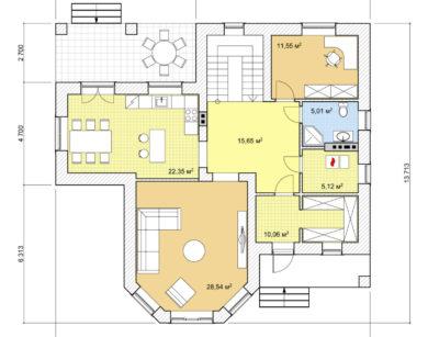 Проект дома с мансардой, 190,19м2