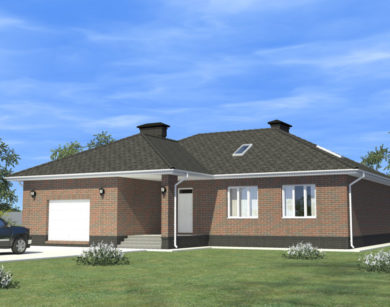 Проект одноэтажного дома, 164,15м2
