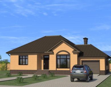 Проект одноэтажного дома, 155,41м2