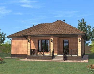 Проект одноэтажного дома, 98,76м2