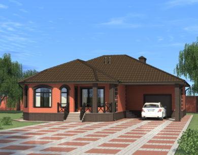 Проект одноэтажного дома, 128,90м2