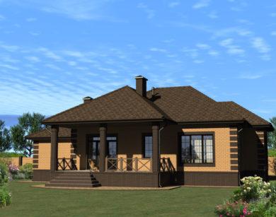 Проект одноэтажного дома, 189,29м2