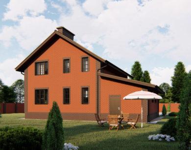 Проект дома с мансардой, 175,07м2