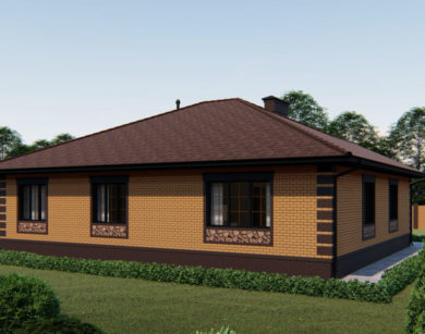 Проект одноэтажного дома, 207,26м2