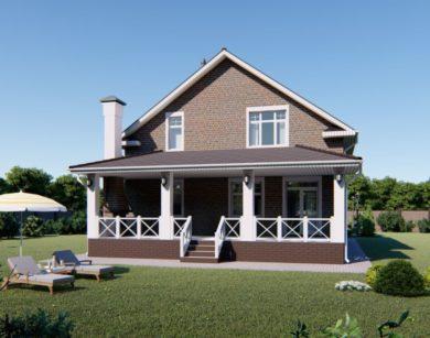 Проект дома с мансардой, 187,92м2