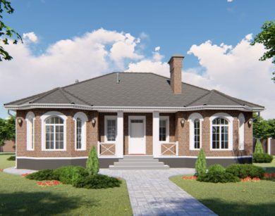 Проект одноэтажного дома, 141,22м2