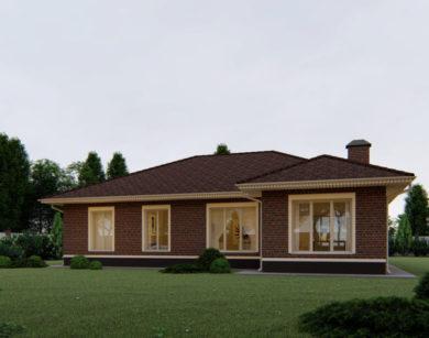 Проект одноэтажного дома, 177,60м2