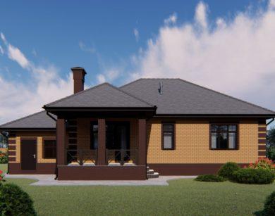 Проект одноэтажного дома, 156,82м2