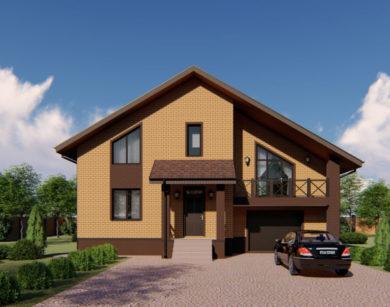 Проект дома с мансардой, 206,25м2